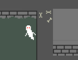 The ghost has no friends, and also doesn't make any splashes because it flies